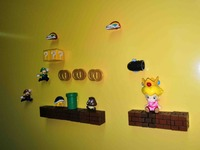Multi Combinations 3D Super Mario Bros. Princess Fridge Magnets Refrigerator Message Sticker Funny Kids Toys Birthday Gift
