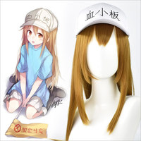 Anime Adult Hataraku Saibou Cosplay Cells At Work Blood Platelet PLT Long Wig Straight Synthetic Hair