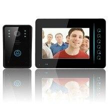 7 inch wireless Color Video door phone Intercom video doorbell/doorphone kit IR system outdoor Metal panel with outdoor camera