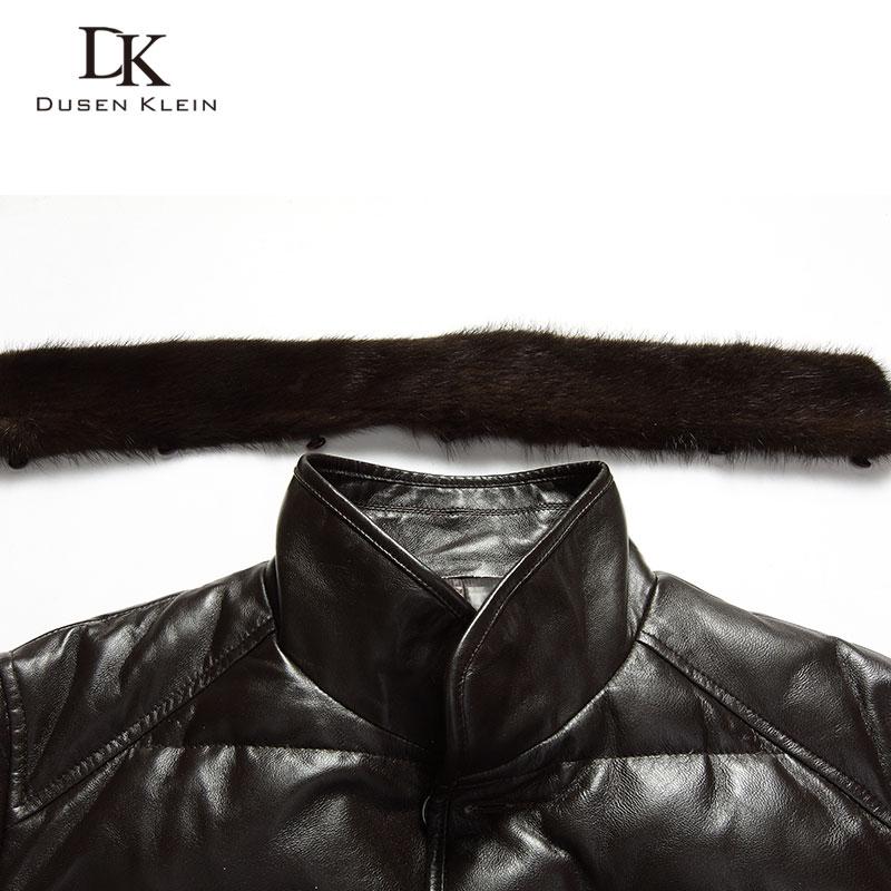 Dusen Klein din piele Down Coat bărbați piele de lux din piele - Imbracaminte barbati - Fotografie 5