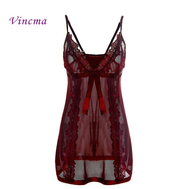 Plus Size S M L XL XXL 3XL 4xl 5XL 6XL Solid Black Transparent Long Dress Women Hot Sexy Lingerie Nightwear Erotic Sex Costumes