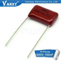 10PCS 630V104J Pitch 15mm 0.1UF 100nf 630V 104 CBB Polypropylene film capacitor film capacitor polypropylene film capacitor 100nf 630v -