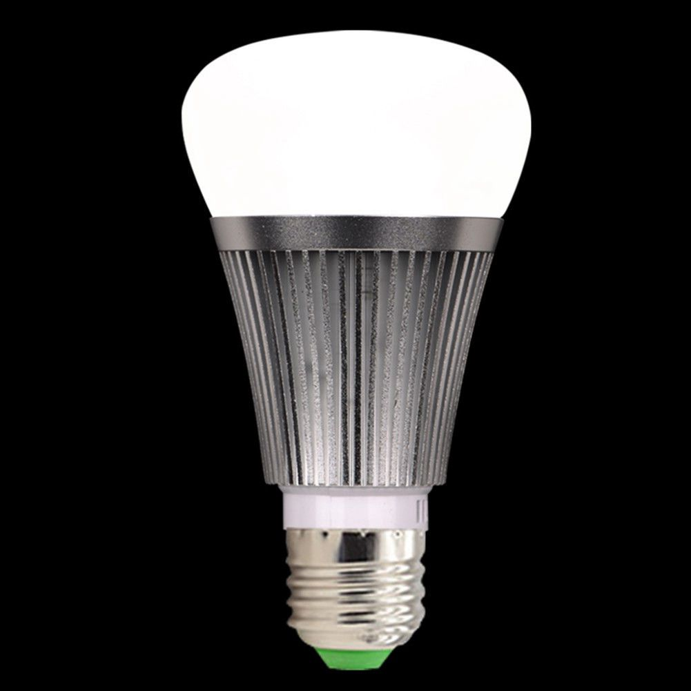 Hot sale Smart LED Light Bulb WiFi Wireless Color Dimmable RGB+W Lamp Stock 7W E27