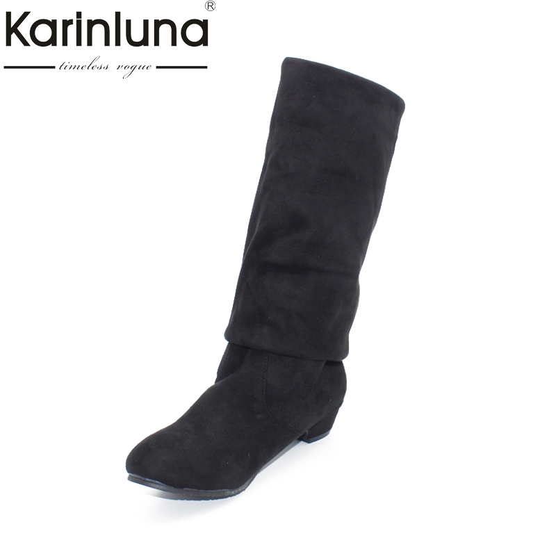 Plus Size 34 43 New Arrival Over The Knee High Boots Women Shoes Solid Casual Concise