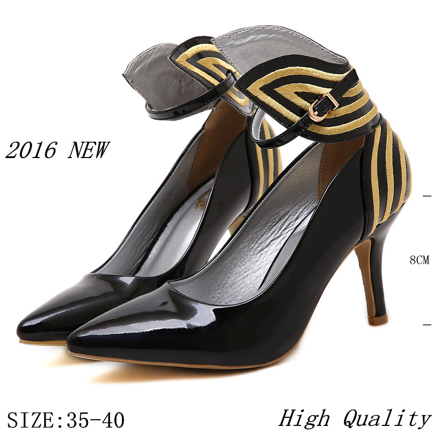 High Heel Shoes 2016 New Thin High Heels Women Pumps Butterfly Heels Sexy Party Shoes Stiletto Big Size 35 – 41