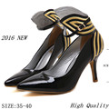 High Heel Shoes 2016 New Thin High Heels Women Pumps Butterfly Heels Sexy Party Shoes Stiletto Big Size 35 - 41
