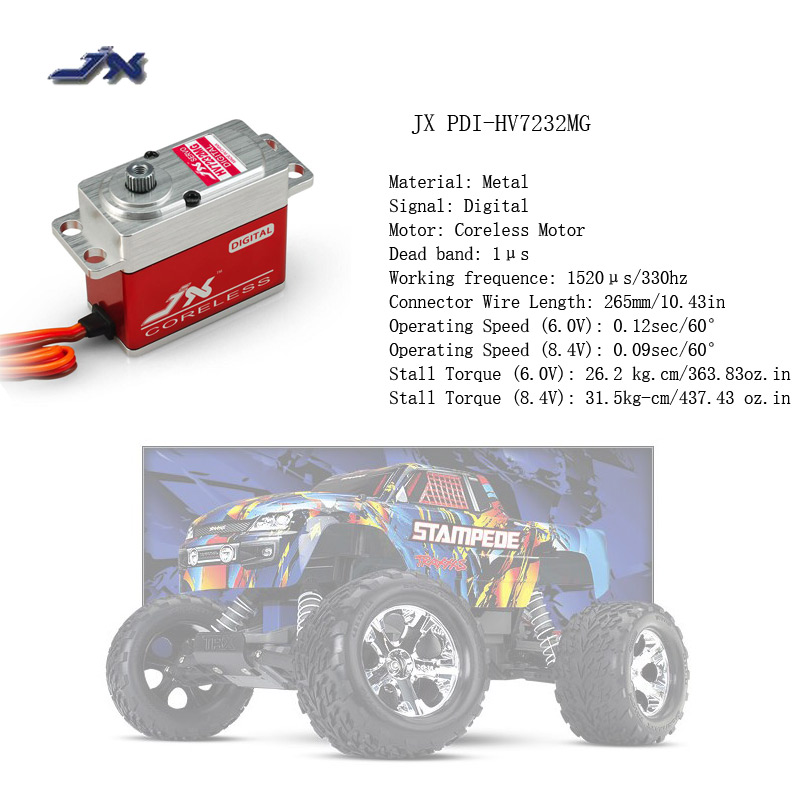 JX PDI-HV7232MG 6V-8.4V Digital Coreless Motor HV Servo 32kg Torque Aluminums Case for 1/10 1/8 RC car/ Big airplane sloth square cushion cover throw pillow case