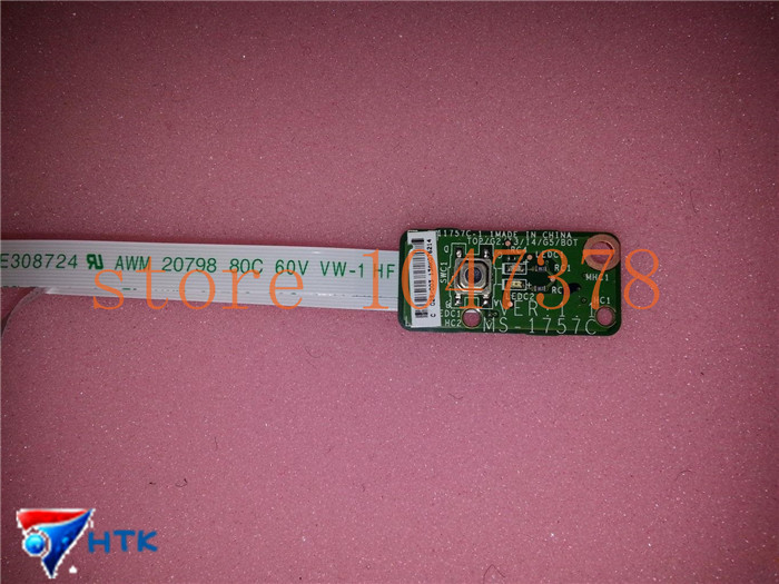 ФОТО original FOR MSI GE70 MS-1757 POWER BUTTON BOARD LED W CABLE MS-1757C MS-1757F VER 1.1