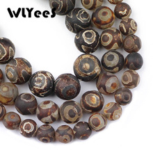 лучшая цена WLYeeS China Tibetan Matte Dzi Eyes Stone Natural carnelian Round 8 10 12mm Loose Beads for Jewelry Bracelet Necklace Making DIY