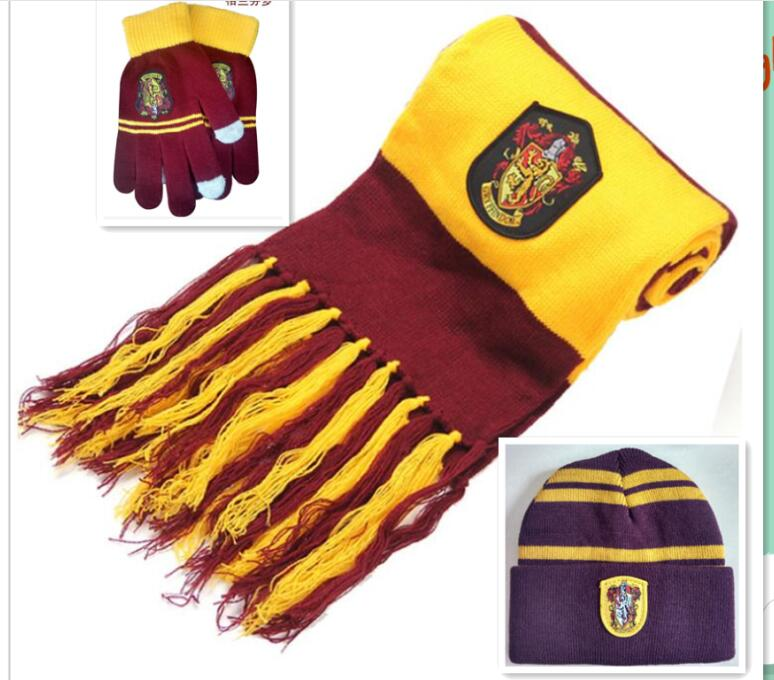 2018 New children college scarves Gryffindor Wrightlin slytherin scarf scarves lengthened thicker Holiday gifts