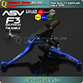 Blue Alloy levers ASV F3 Series 2ND Clutch & Brake Folding Lever Modify Parts Motorcycle ATV Dirt Pit Bike WR TTR YZ YZF WRF