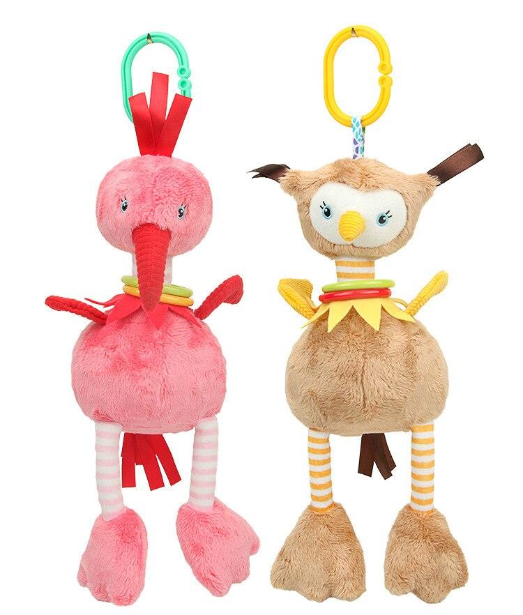 Baby Kids Rattles Toys Cotton Stroller Pram Crib Hanging Soft Plush Toys Animal Clip Baby Crib Bed Hanging Bells Toys WJ578