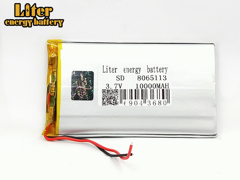 NEW 8565113 DIY Real <font><b>10000mAh</b></font> Li-ion <font><b>3.7V</b></font> Rechargeable <font><b>Battery</b></font> Lithium Polymer With PCM Backup Power Digital Products Tablet image
