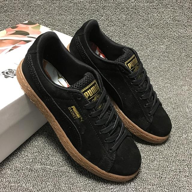 Puma shoes puma Velvet thick-soled platform shoes Shoes for men and women  velvet black size 36-39 374d8a0f0b