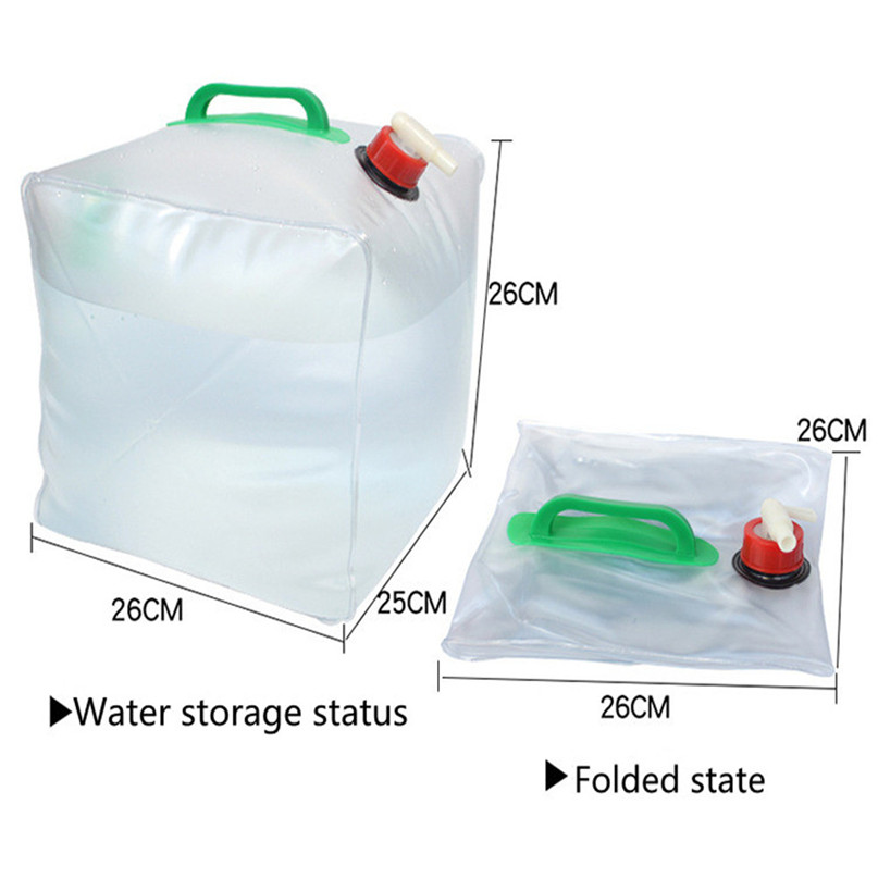 Portable water storage container Collapsible Water Carrier Bag Emergency Water Bag for Camping survival #2y15 (10)
