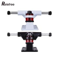 Check Price Relefree 2Pcs Professional Skateboard Bracket Aluminum Bridge Truck 15 x 7 x 5.9cm Universal Alloy Long Longboard