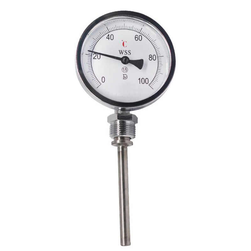 Pointer Type Bimetal Thermometer Industrial Thermometer Boiler Tube Radial Temperature Measurement For Industrial
