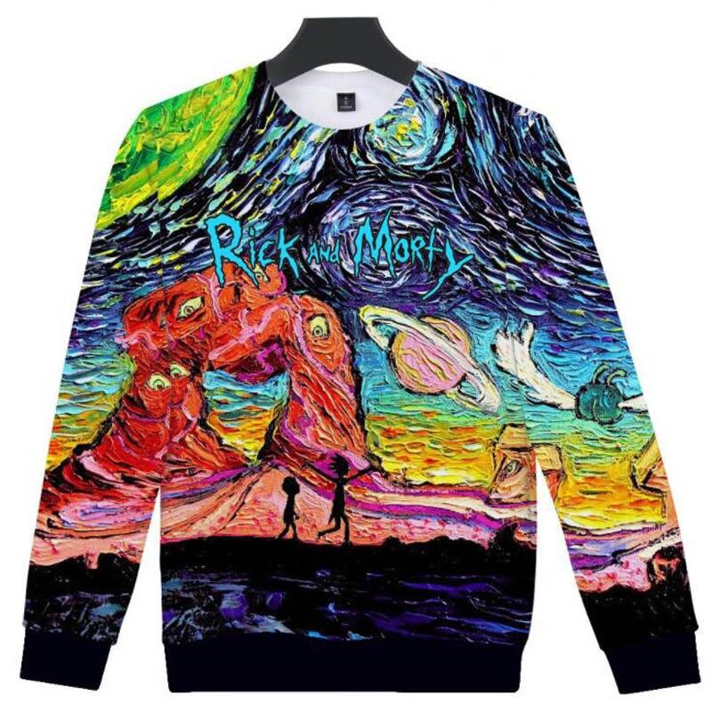Rick and Morty Capless Sweatshirts Men Women Hip Hop Streetwear Pullover Brand Clothing Cartoon Ricka Morty 3D Funny Hoodies