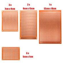 Универсальный электронный макет 12 шт./компл. прототипов печатных плат печатная плата прототип Stripboard DIY медная пластина