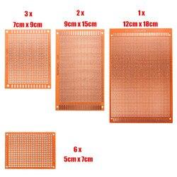 Universele Elektronische Circuit Broodplank 12 stks/set Prototyping PCB Printplaat Prototype Stripboard DIY Koperen Plaat