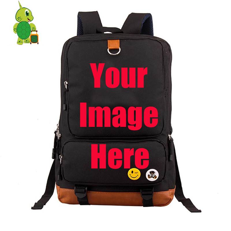 Customize Your Image Backpack School Bags For Teenage Girls Boys Daily Backpack Collage Students Laptop Backpack Travel Bags