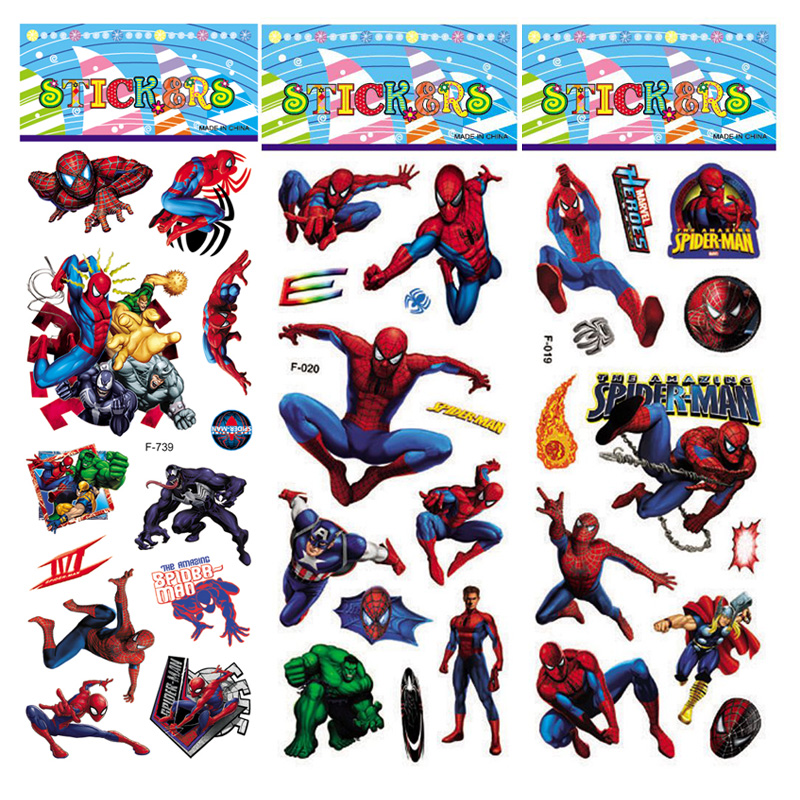 1pcs Marvel Super Heroes Captain America Hulk Venom Thor 3D Puffy Bubble Sticker Kids Toy Reward For Phone Notebook Luggage