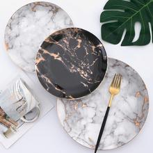 6 8 10 inch Marble Ceramic Plate Unique Dinner Set Dish Dessert Plate Wholesale Dinnerware Cake Tray