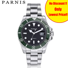 Parnis Mechanical Automatic Mens Watch 40mm Ceramic Diving Tritium Watches mekanik erkek kol saati reloj automatico Men Clock