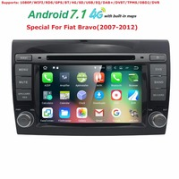 7inch Car DVD GPS For Fiat Bravo 2007 2008 2009 2010 2011 2012 Car Stereo Radio Navi with bluetooth 4GWiFi free map canbus 2GRAM