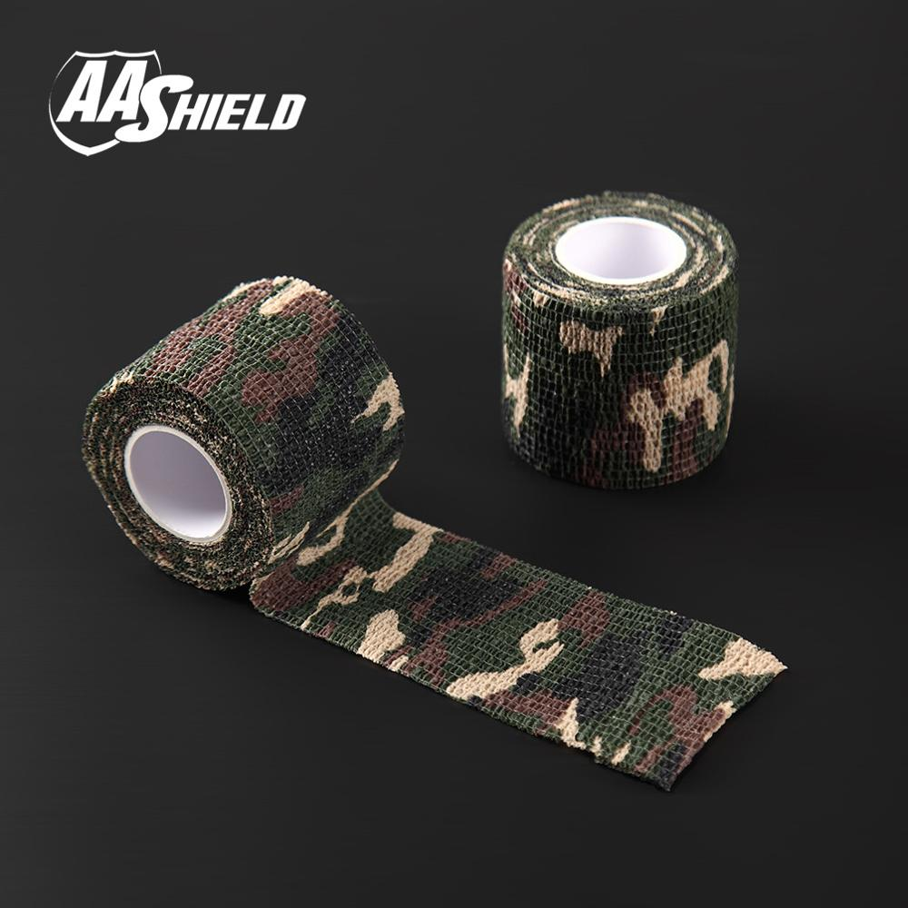 AA Shield Outdoor Camping bandage Camo Tape Military Rifle Covert Adhesive multicolor / Gun Forest 3PCS Free Shipping