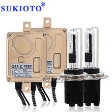 SUKIOTO 55 W CANBUS ไม่มีข้อผิดพลาด Xenon H7CR HID ชุดไฟหน้าหลอดไฟ 4300 K 5000 K 6000 K 8000 K AC EMC รถอุปกรณ์เสริม