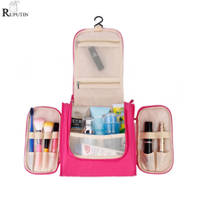 RUPUTIN Drop Ship Travel Wash Storage Bags Portable Waterproof Makeup Organizer Bag Bathroom Toiletries Hook Cosmetic