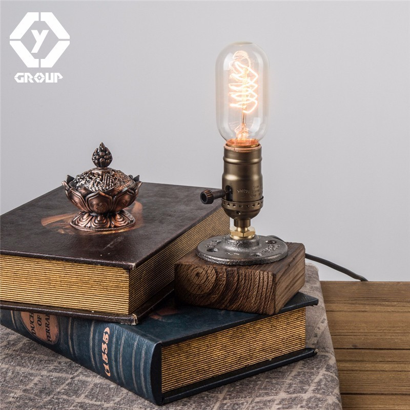 OYGROUP Wood Table Lamp Romantic Modern Dimmable Desk Lamp ...