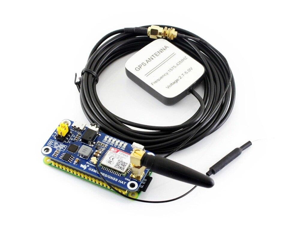 Faible Puissance SIM868 GSM GPRS GNSS Bluetooth 3.0 CHAPEAU pour Raspberry Pi 2B/3B/Zéro/Zéro W soutien SMS Appel Téléphonique CP2102 UART Débogage