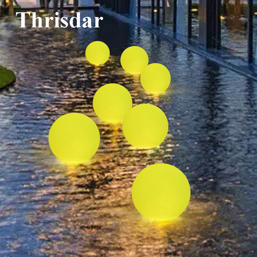 Thrisdar RGB IP68 Swimming Pool Floating Ball Light Garden Party Bar KTV Table Light With Remote Fountain Disco Bathtub Light