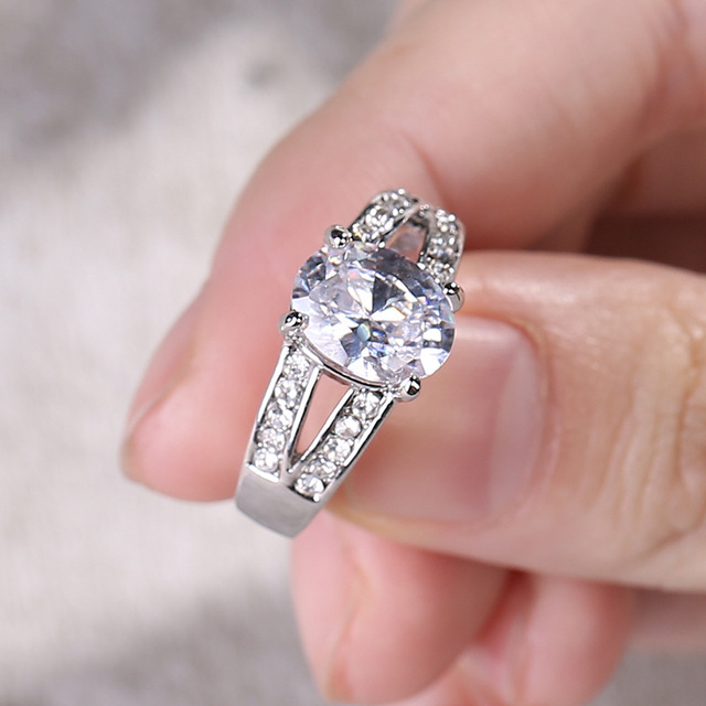 Goinhot 10pcs Lot Fashion Jewelry Silver Rings For Women Gift Engagement Wedding Luxury Crown Foreign