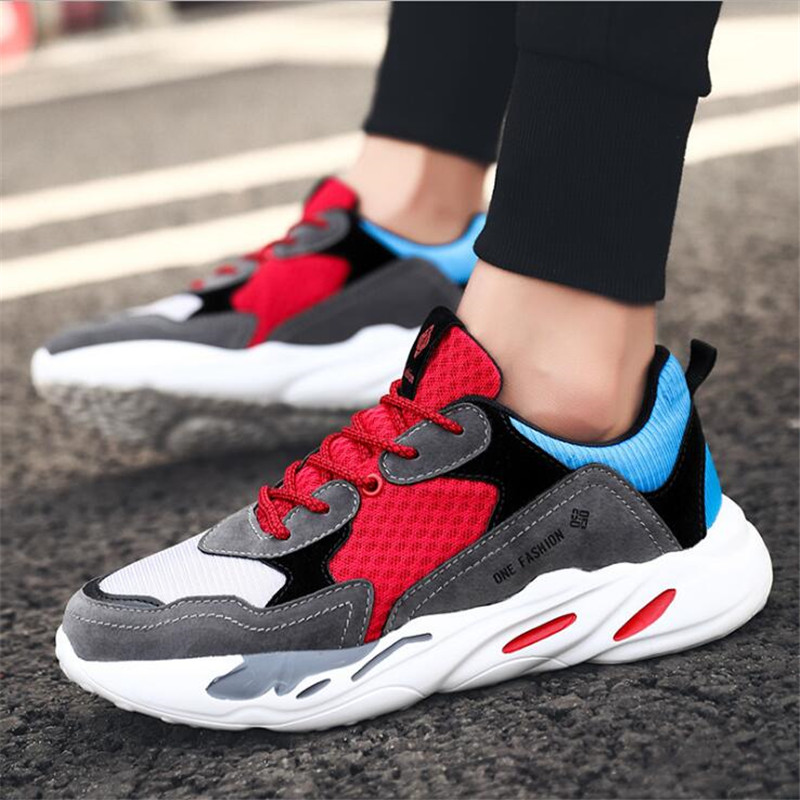 8bb95da601f53 Vintage Dad Men Shoes 2019 Kanye West Fashion Mesh Light Breathable Men  Casual Shoes Men Sneakers Zapatos Hombre Tenis Superstar-in Men s Casual  Shoes from ...