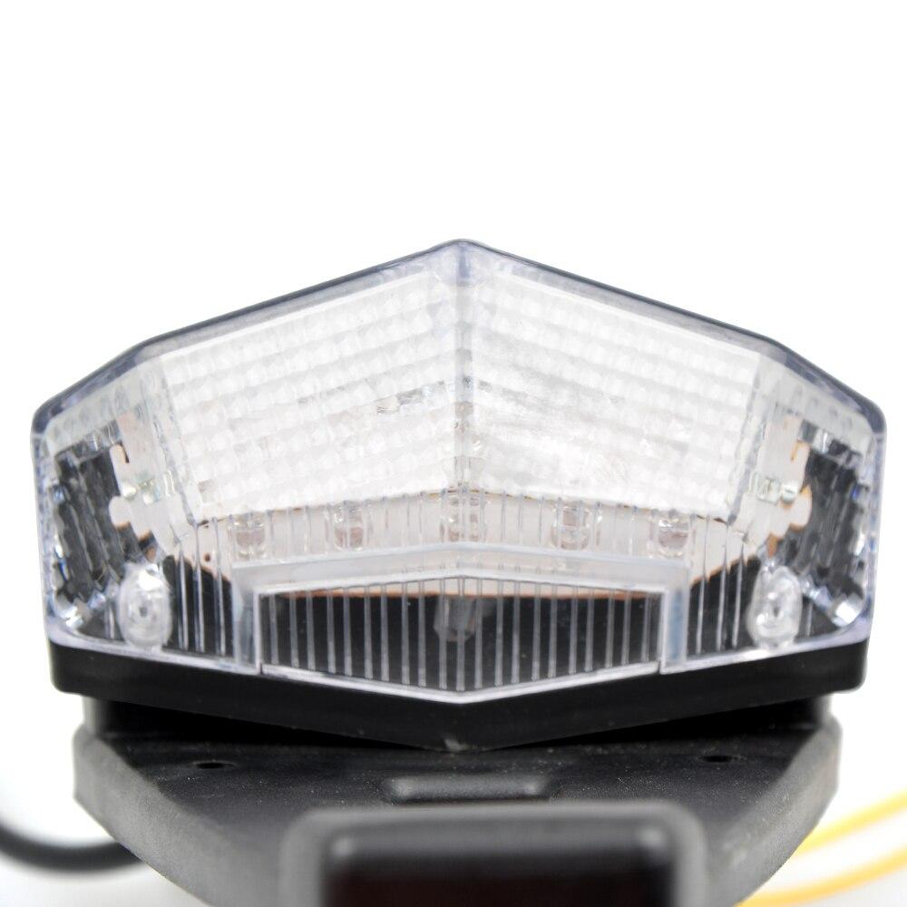 YOWLING Motorcycle Enduro Trial Bike Fender 12 LED Brake Stop Rear Tail Light Motorbike Taillights Scooter Warning Signal Light