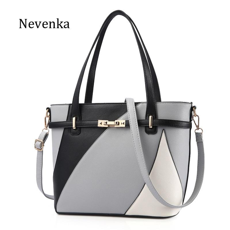Nevenka новый дизайн для женщин Мода Стиль Сумки женские роскошные цепи сумки блестками молния сумка Качество искусственная кожа Tote