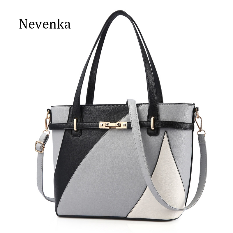 Nevenka New Design Women Fashion Style Handbag Female Luxury Chains Bags Sequined Zipper Messenger Bag Quality Pu Leather Tote stylish chains and rivets design women s tote bag