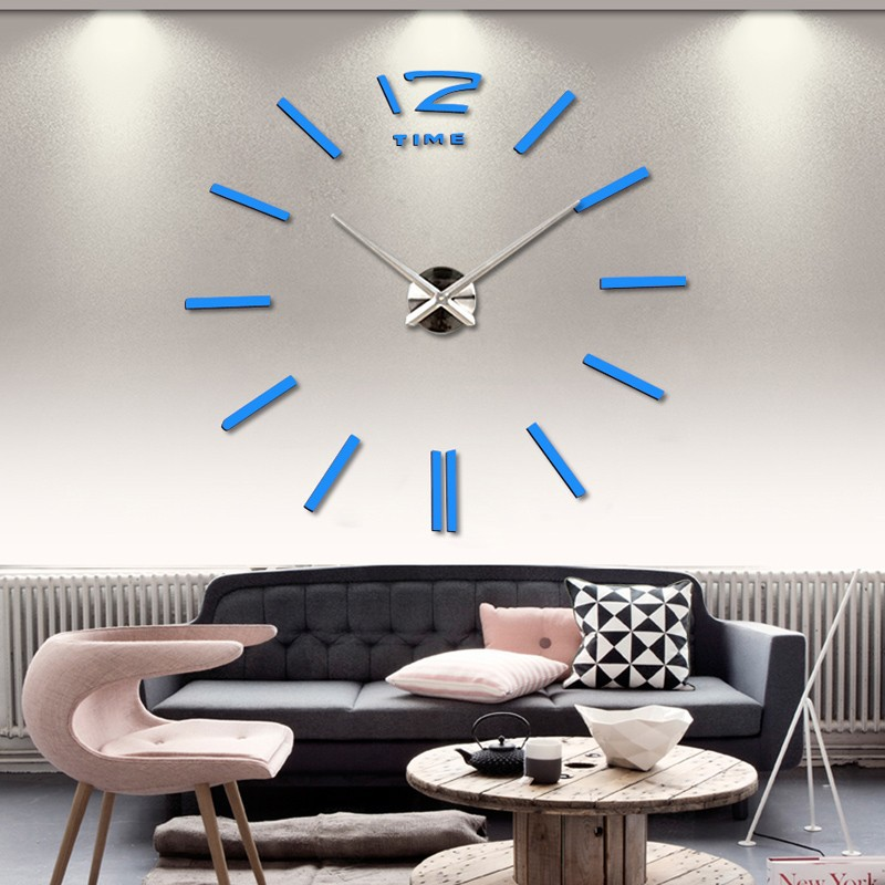 3d real big wall clock rushed mirror sticker diy living room decor free shipping fashion watches 16 new arrival Quartz clocks 9