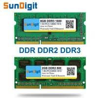 SunDigit Laptop Speicher Ram DDR1 DDR2 DDR3 1600 Mhz 1333 800 400 8GB 4GB 2GB 1GB 512MB für Notebook Sodimm Memoria DDR 1 2 3