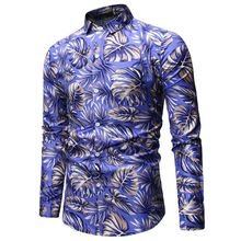 2019 Spring Flower Shirts Men Fashion Hawaiian Man Breathable Casual Shirt Streetwear Trend Wild Loose Short Sleeve
