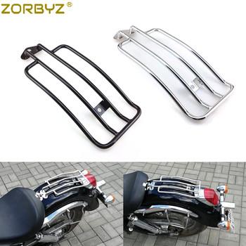 ZORBYZ motocykl czarny chrom tył jednoosobowe miejsce bagażnik przewoźnik dla honda shadow Aero 750 2004 tanie i dobre opinie Systemy carrier LH1739 0inch 1 1kg Steel Luggage Rack