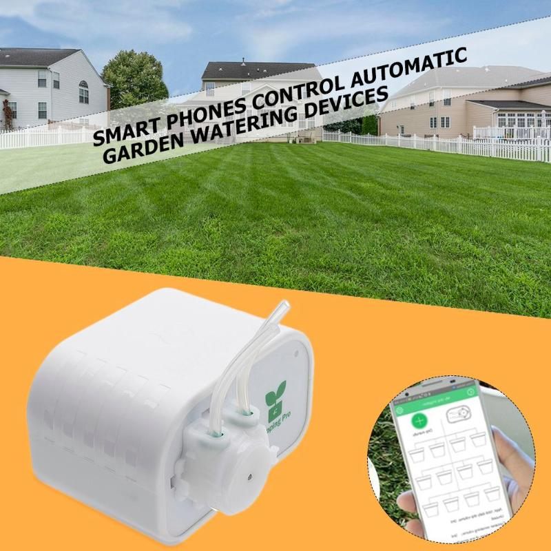 Image 5 - Garden Automatic Watering Device Mobile Phone Control Intelligent Drip Irrigation Tool Succulents Plant Watering Timer System-in Watering Kits from Home & Garden