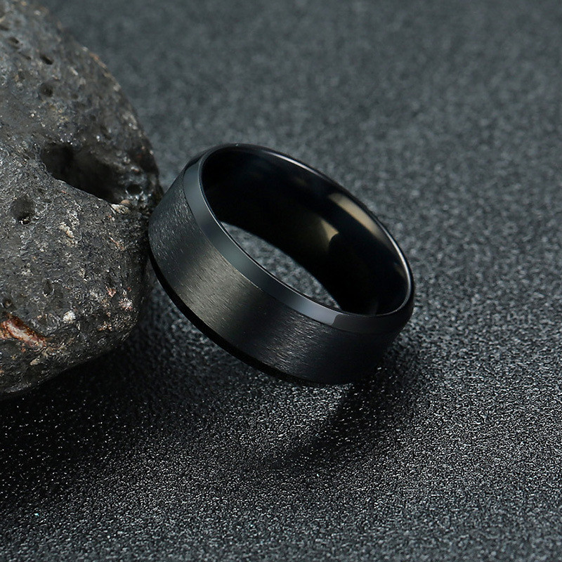 ZORCVENS 2020 New Fashion 8mm Classic Ring Male 316L Stainless Steel Jewelry Wedding Ring For Man 1