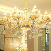High Quality Luxury LED Chandelier 6 Arms 8 Arms 10 Arms 15 Arms Lobby Living Room
