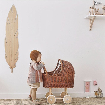 Vime Vintage 22inch 16inch Silicone Reborn Baby Doll Studio Photography Props Classical Style Stroller Trolley Pretend Play Toys