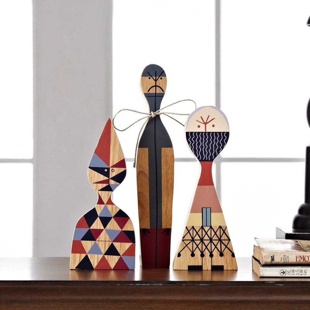Weihnachtsgeschenk Holz Innenausstattung Abstrakte Moderne Puppe ...