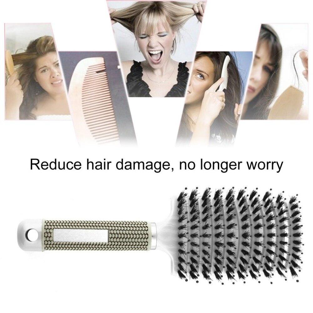 20 stücke in 1 paket, schwarz farbe, Haar Kopfhaut Massage Kamm - 2